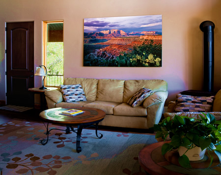 "Living Area with ""View From Gooseberry Mesa"""
